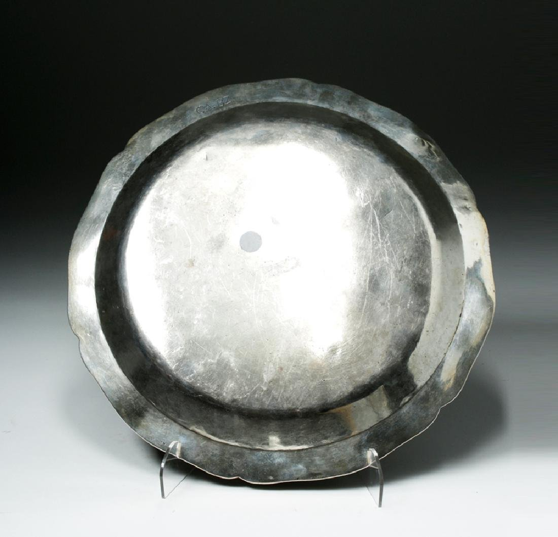Late 18th C. Spanish Colonial Silver Charger - 2