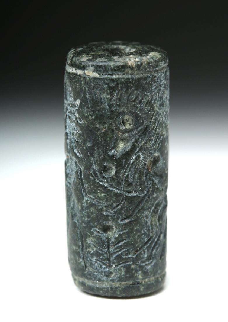 Assyrian Black Stone Cylinder Seal - 3