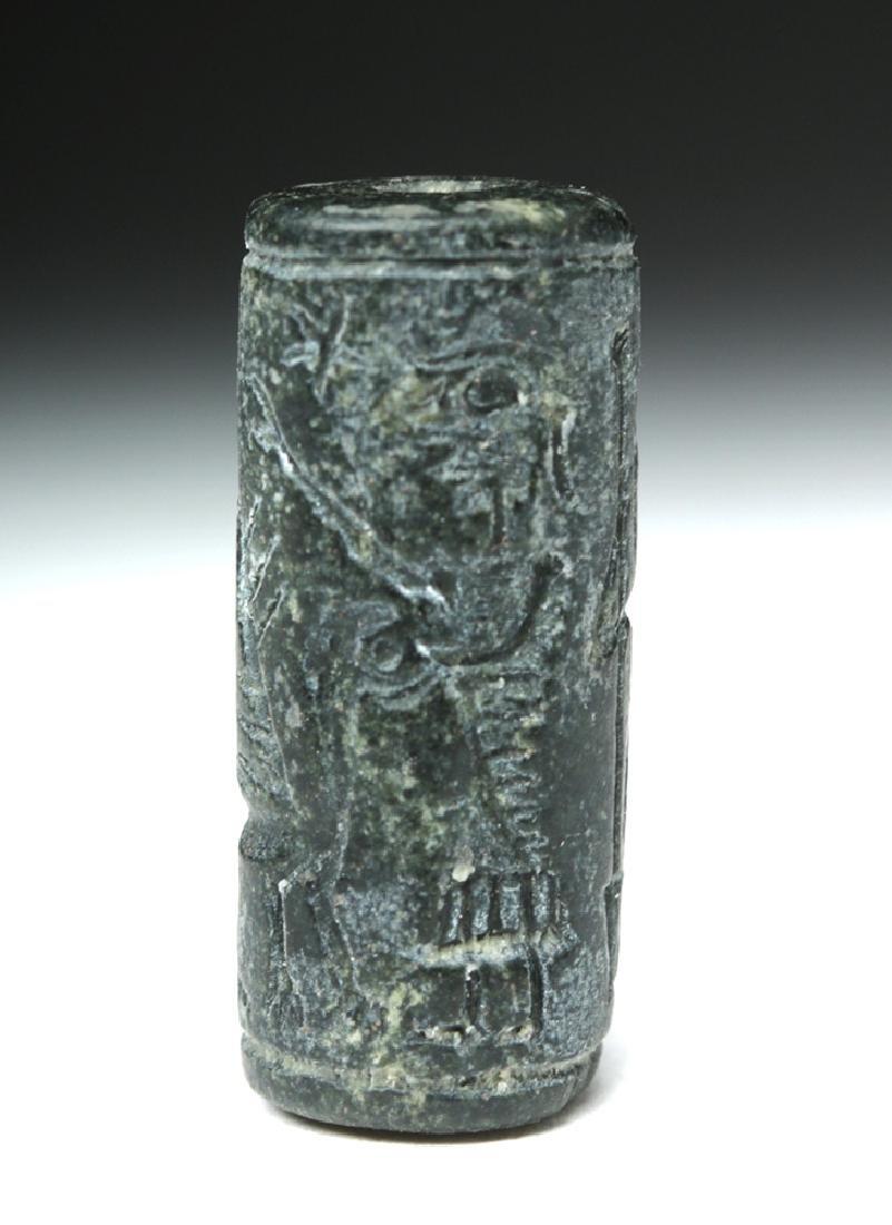 Assyrian Black Stone Cylinder Seal - 5