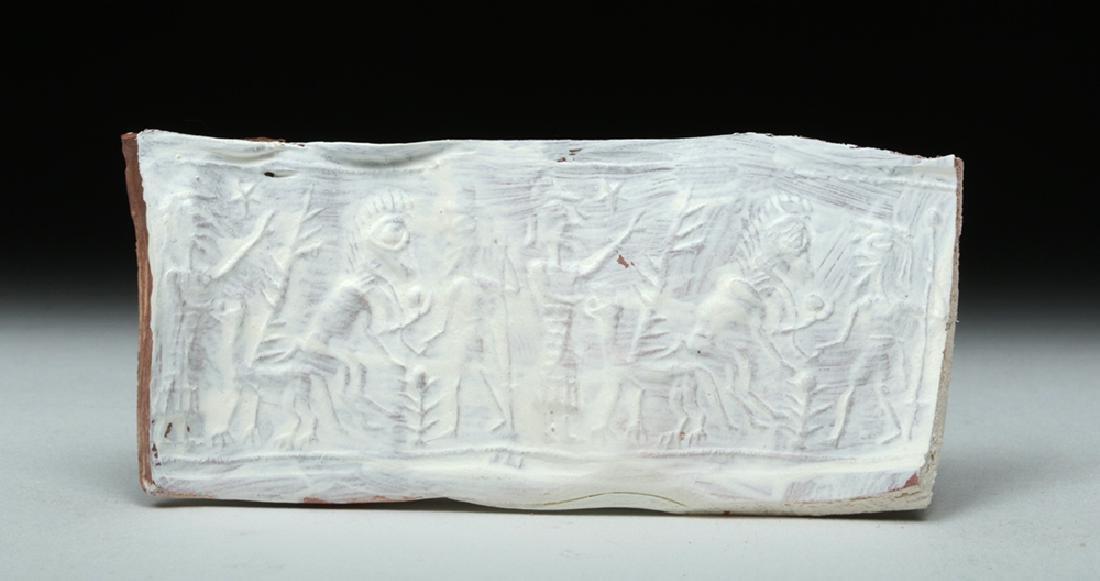 Assyrian Black Stone Cylinder Seal - 7