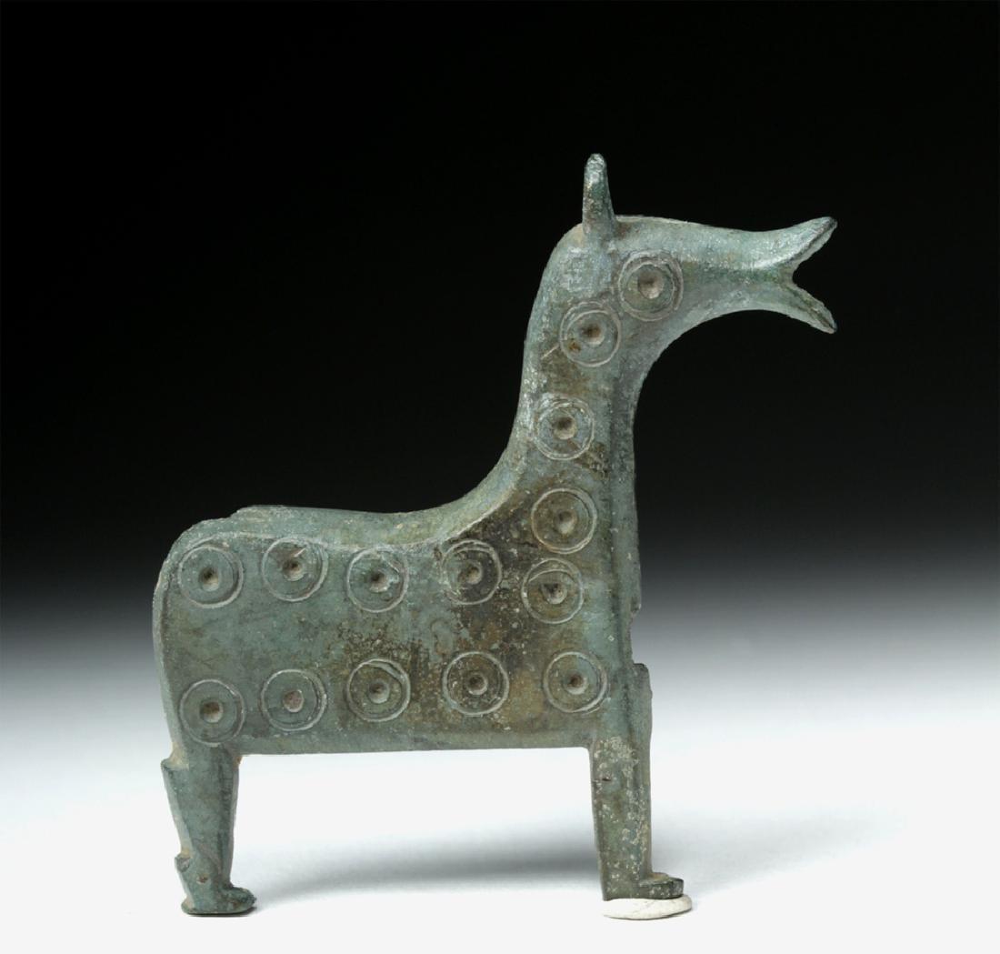 Very Rare Viking Bronze Lock Case - Horse Form