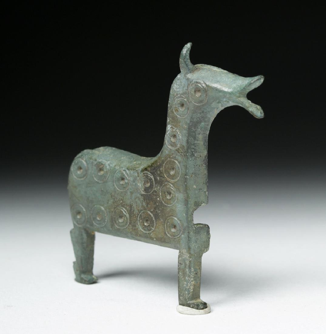 Very Rare Viking Bronze Lock Case - Horse Form - 2