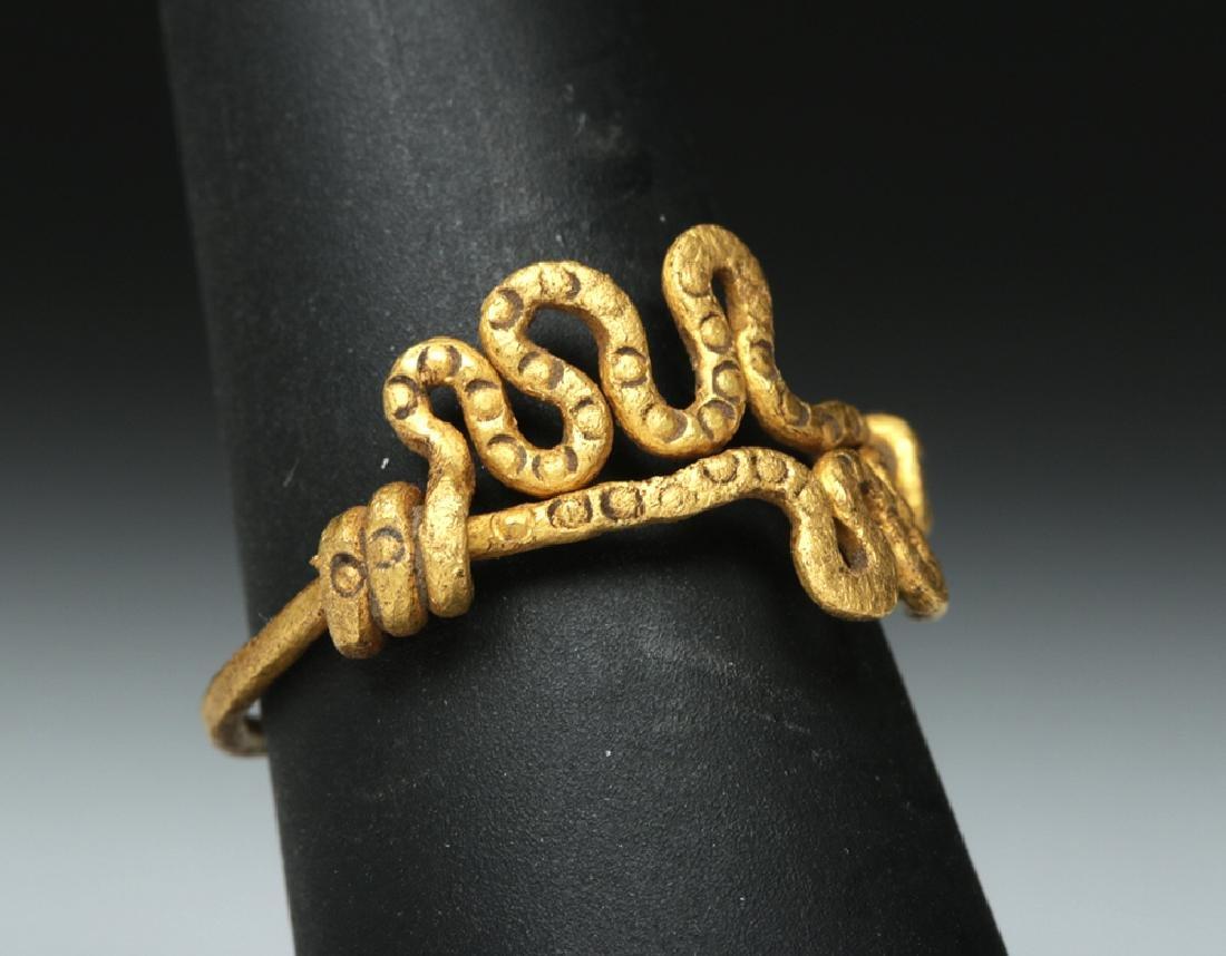 Viking 18K Gold Snake Ring - 4.4 g - 2