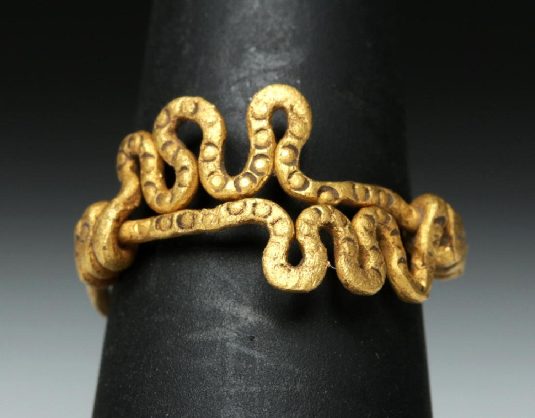Viking 18K Gold Snake Ring - 4.4 g - 3