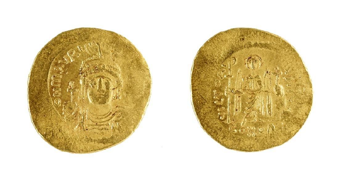 Byzantine Gold AU Solidus Maurice Tiberius - 4.47 G