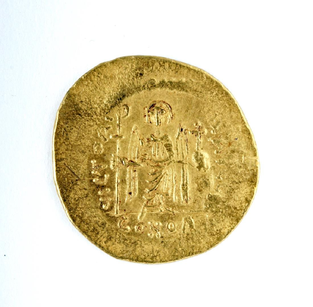 Byzantine Gold AU Solidus Maurice Tiberius - 4.47 G - 2