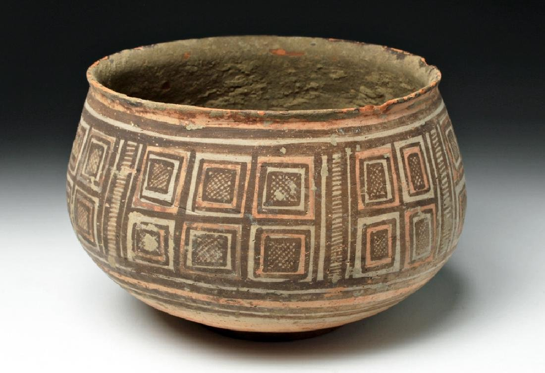 Harappa Indus Valley Geometric Pottery Bowl