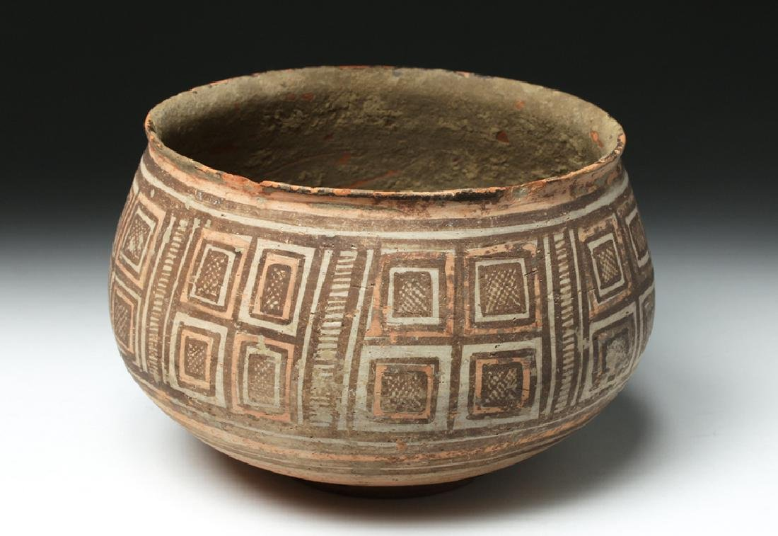 Harappa Indus Valley Geometric Pottery Bowl - 2