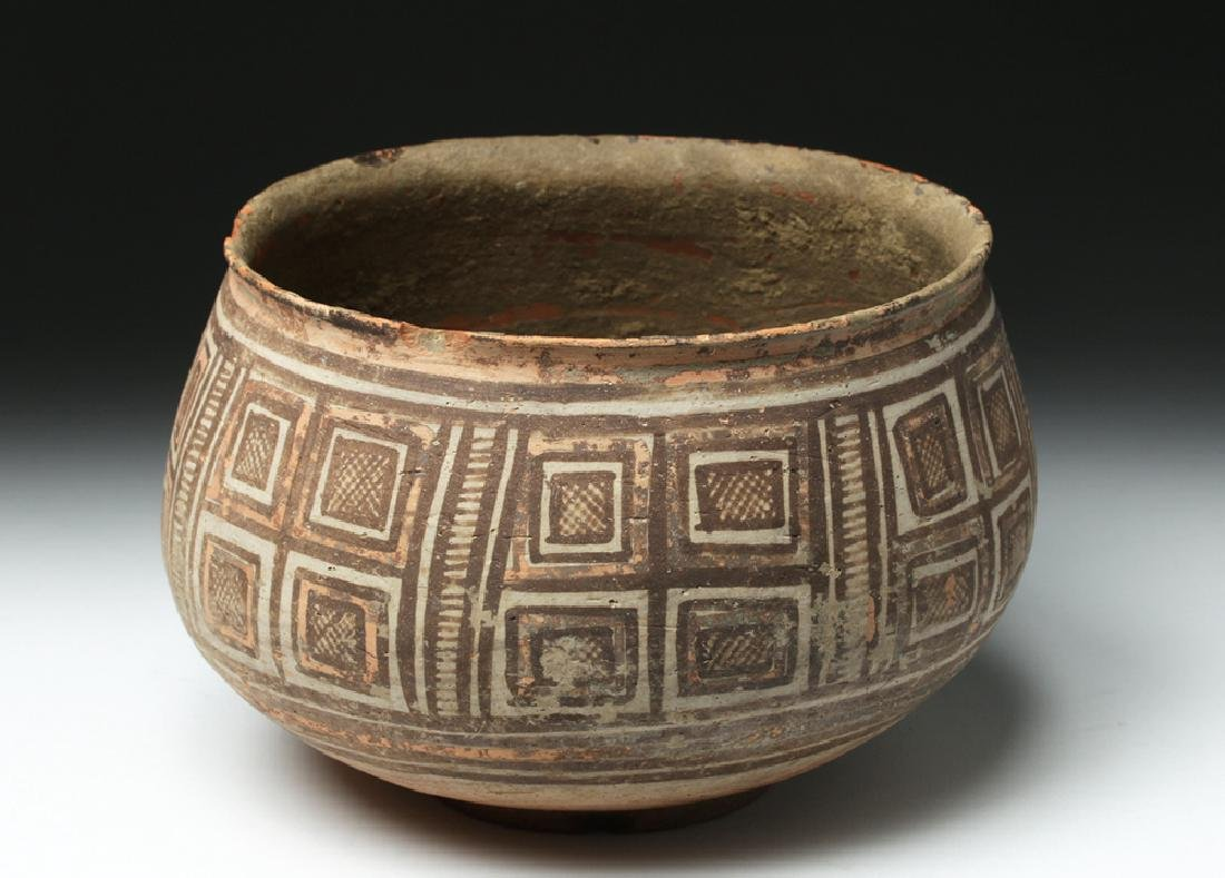 Harappa Indus Valley Geometric Pottery Bowl - 3
