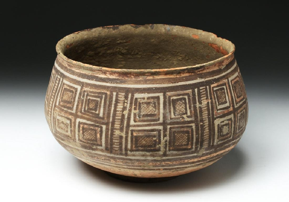 Harappa Indus Valley Geometric Pottery Bowl - 4