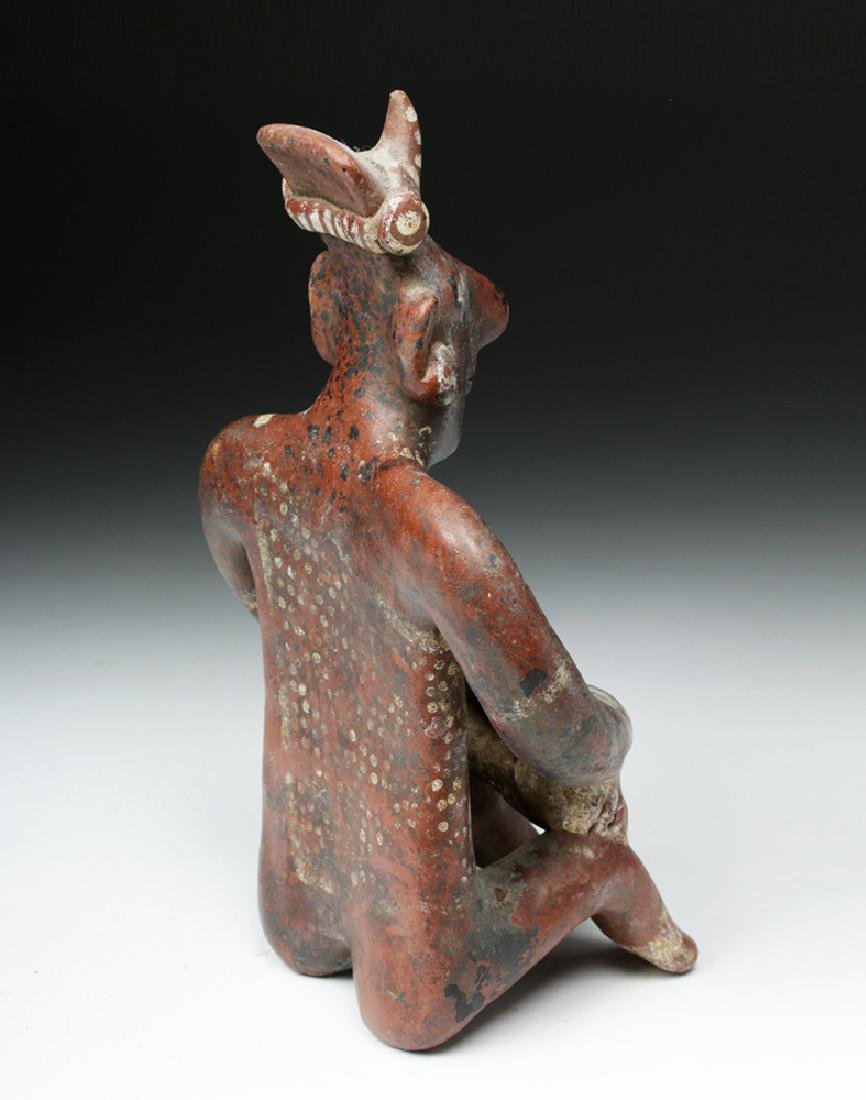 Fine Jalisco Pottery Seated Sheepface Musician - 4