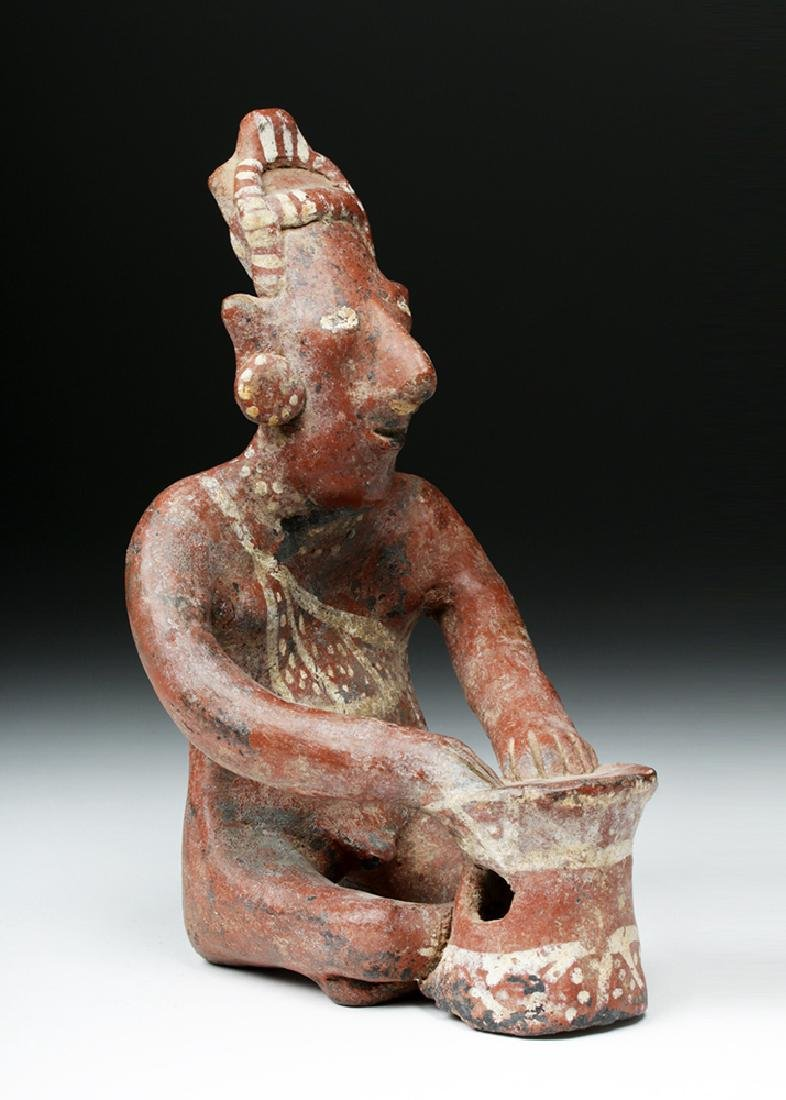 Jalisco Pottery Sheepface Seated Drummer - Six Fingers - 3