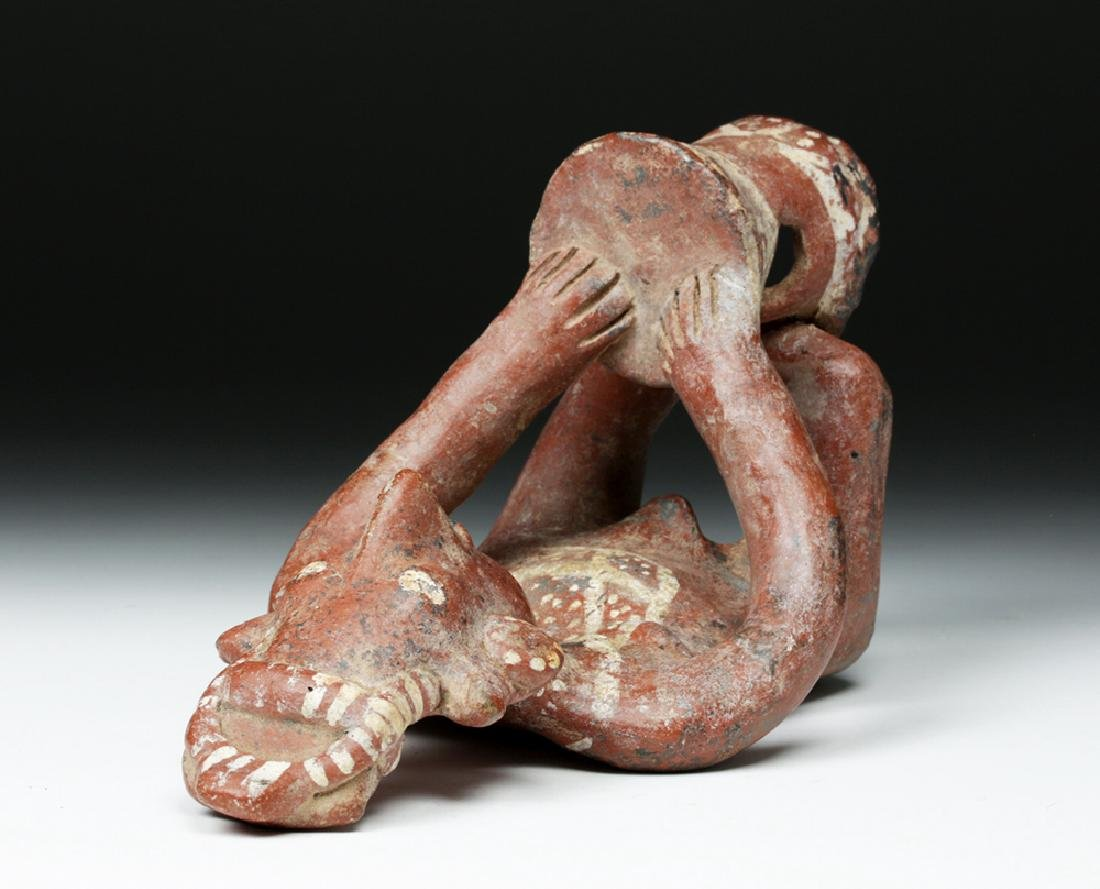 Jalisco Pottery Sheepface Seated Drummer - Six Fingers - 7