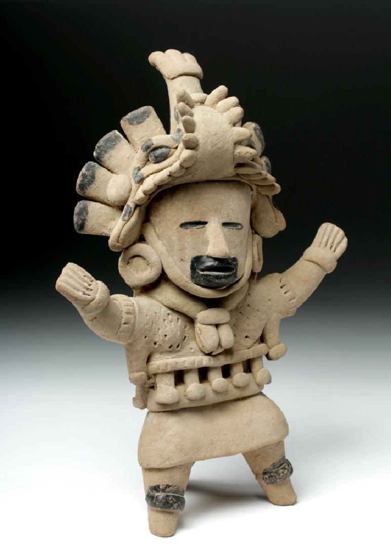 Superb Veracruz Pottery Standing Woman - 5