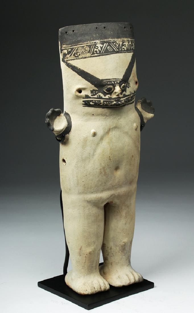 Large Chancay Bichrome Cuchimilco Standing Figure - 4