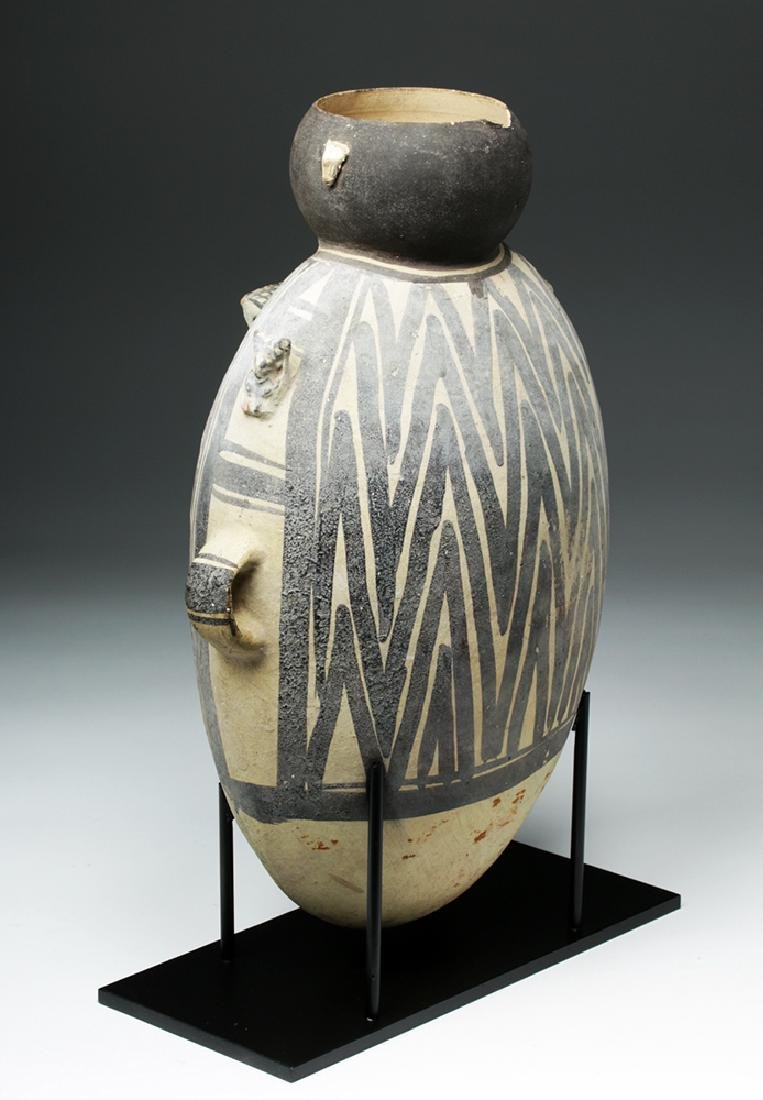 Large Chancay Pottery Amphora with Human in Hut - 3