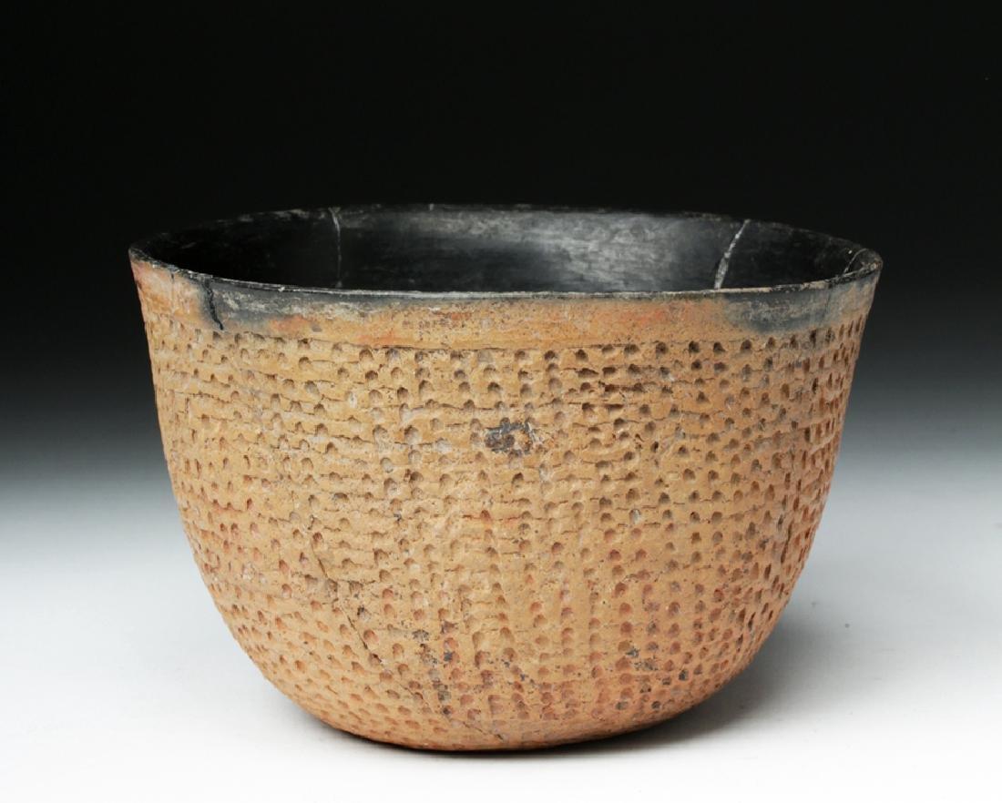 Anasazi Salado Ceramic Corrugated Bowl - 4