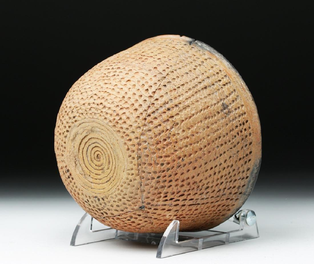 Anasazi Salado Ceramic Corrugated Bowl - 6