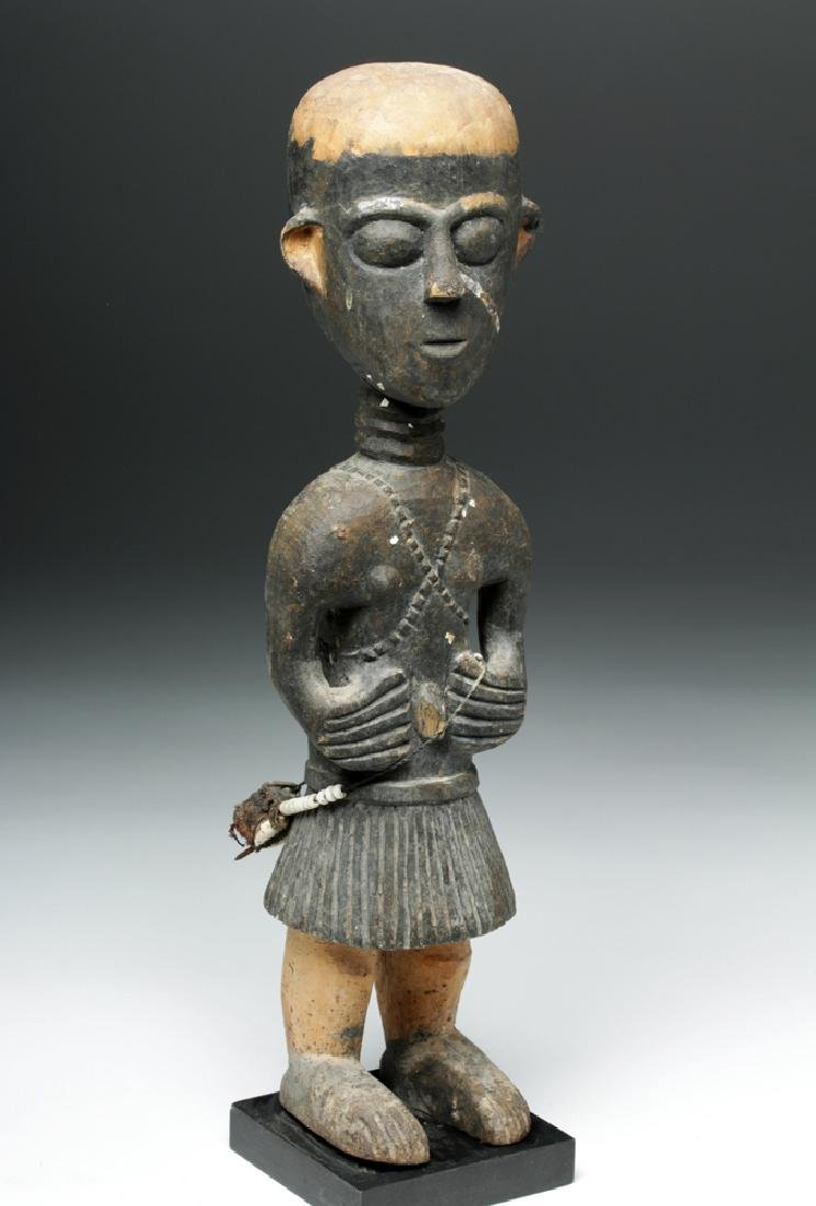 20th C. African Baga Carved Wooden Female Figure