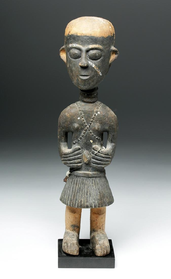 20th C. African Baga Carved Wooden Female Figure - 2