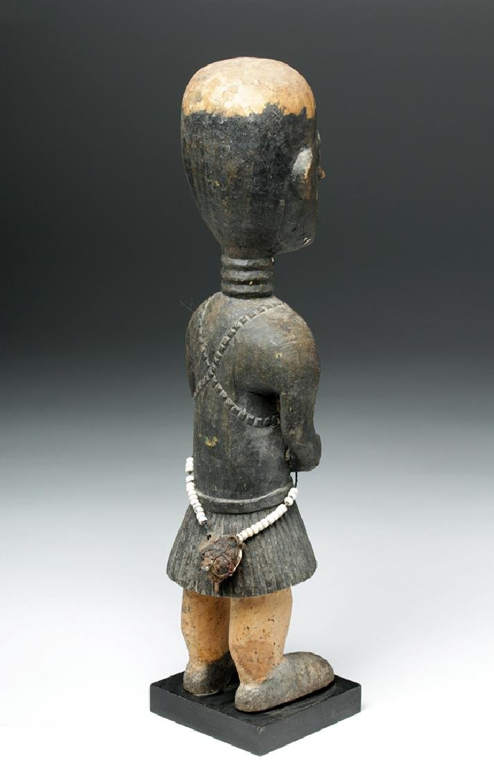 20th C. African Baga Carved Wooden Female Figure - 3