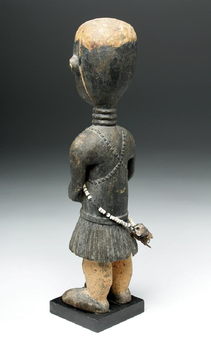 20th C. African Baga Carved Wooden Female Figure - 4