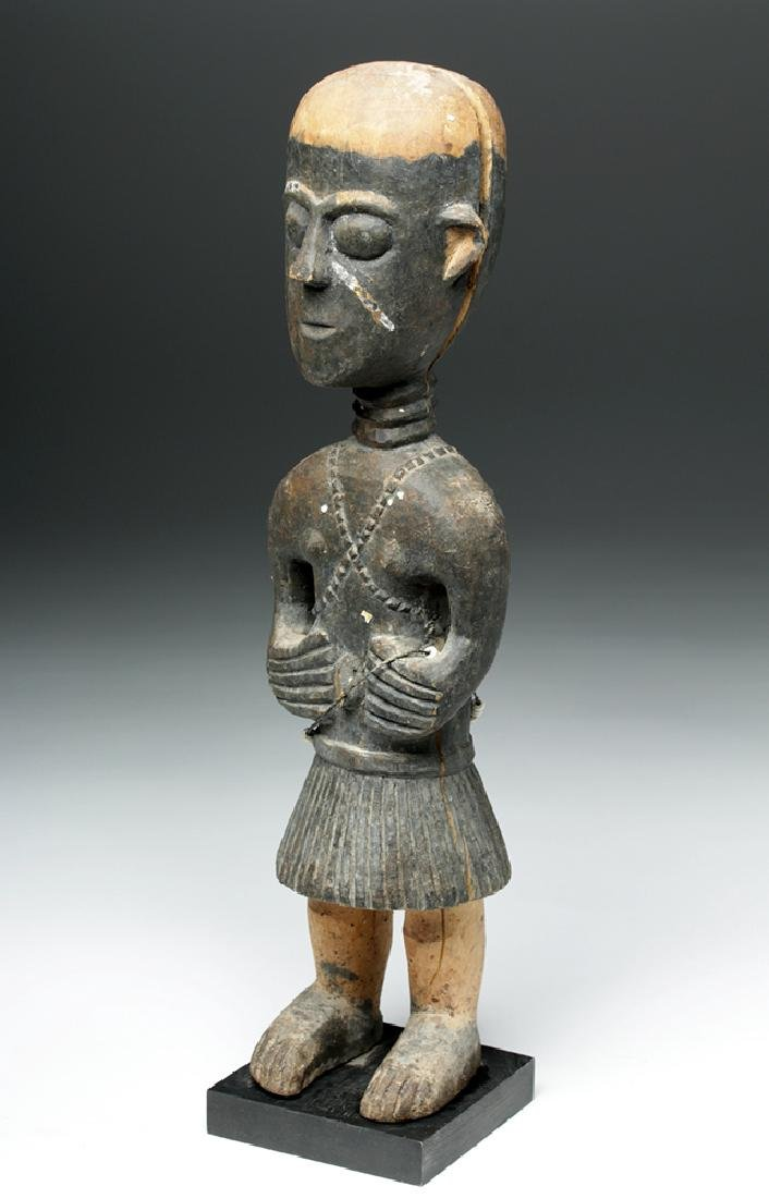 20th C. African Baga Carved Wooden Female Figure - 5