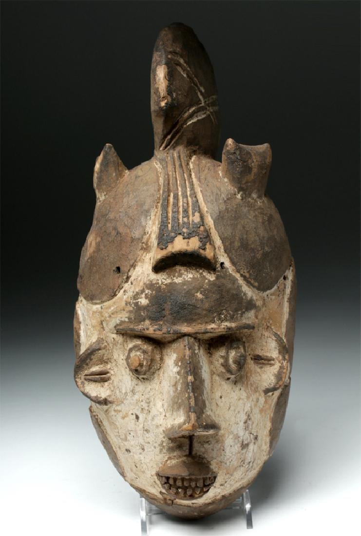 20th C. African Igbo Wooden Mask - Okoroshi Oma