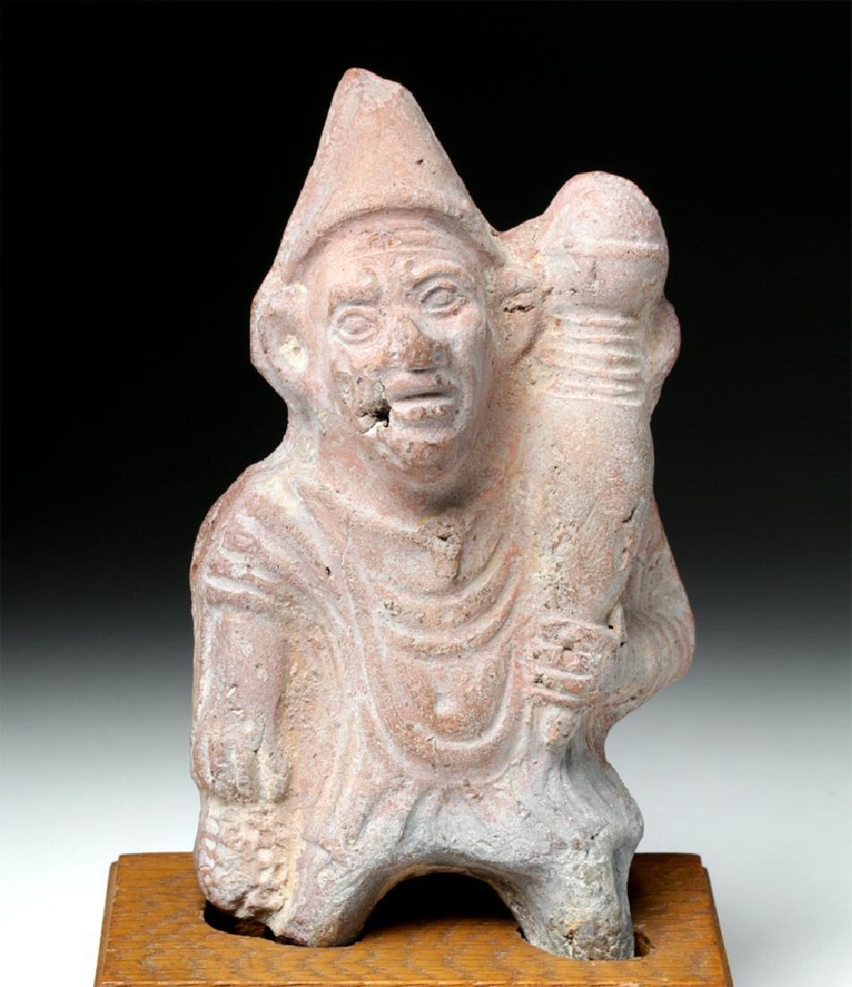 Romano-Egyptian Pottery Grotesque Figure w/ Phallus