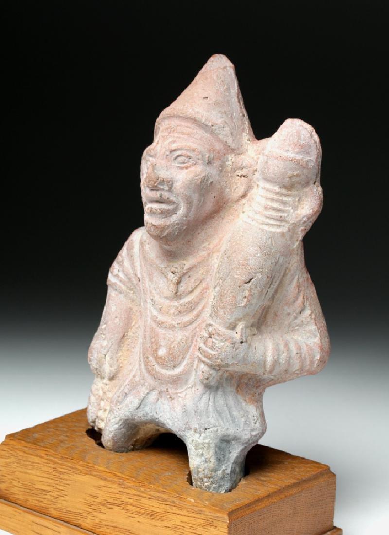 Romano-Egyptian Pottery Grotesque Figure w/ Phallus - 2