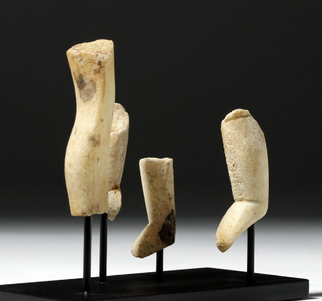 Group of 4 Greek Cycladic Marble Legs - 2