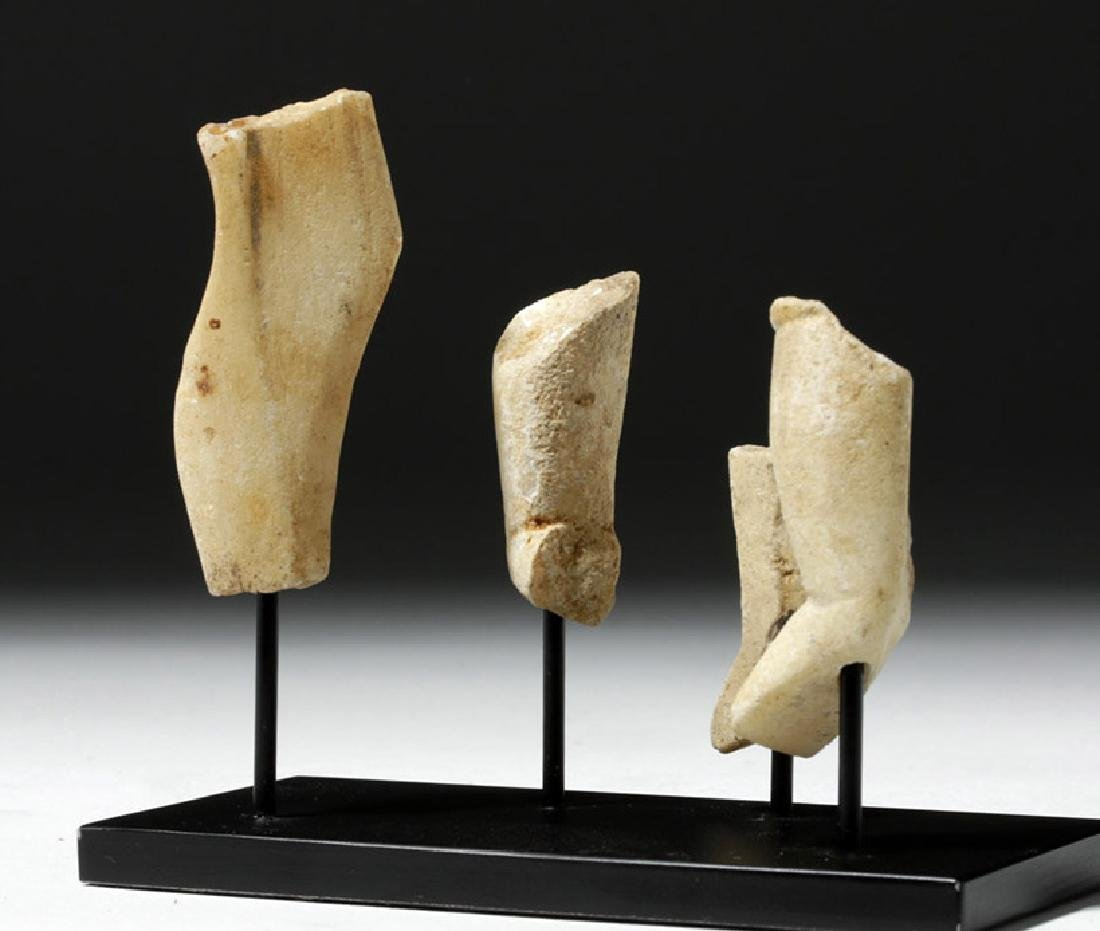 Group of 4 Greek Cycladic Marble Legs - 3