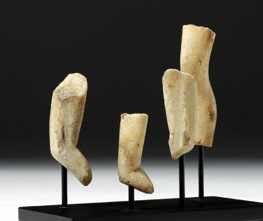 Group of 4 Greek Cycladic Marble Legs - 4