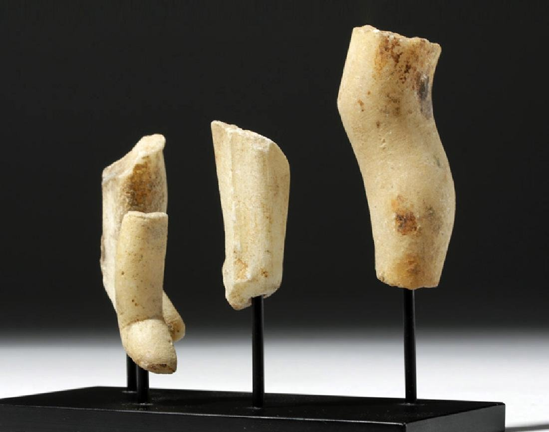 Group of 4 Greek Cycladic Marble Legs - 5