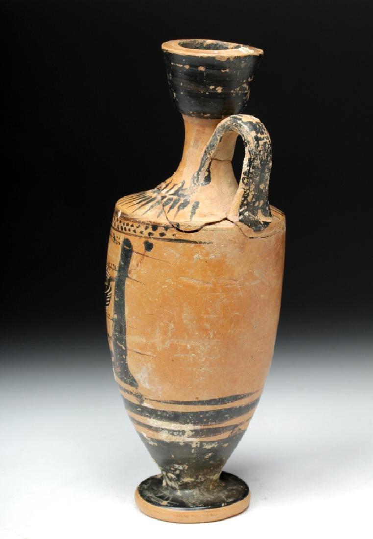 Greek Attic Black-Figure Lekythos Herakles, Nemean Lion - 3