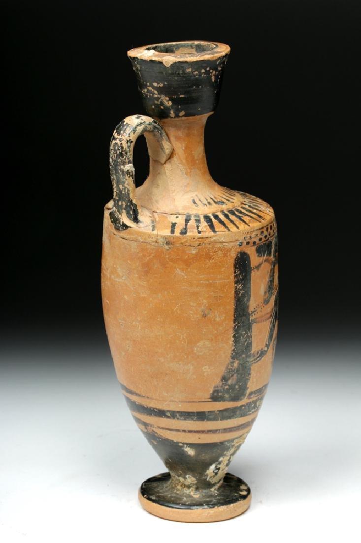 Greek Attic Black-Figure Lekythos Herakles, Nemean Lion - 4