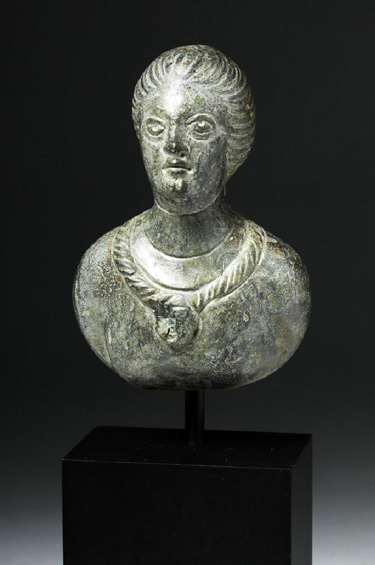 Roman Bronze Protome - Bust of Woman