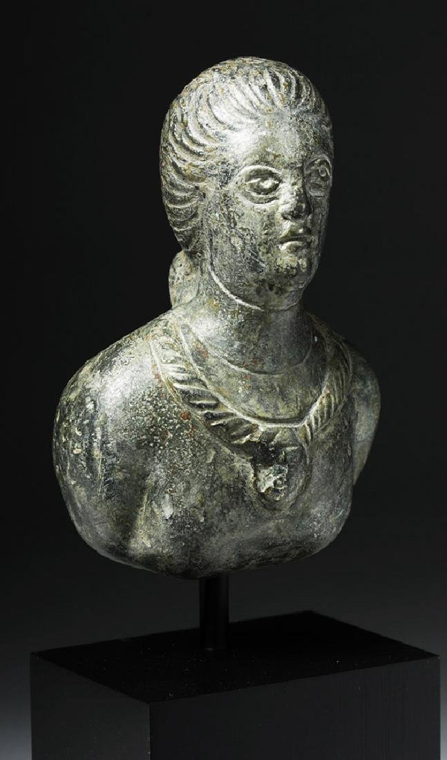 Roman Bronze Protome - Bust of Woman - 4