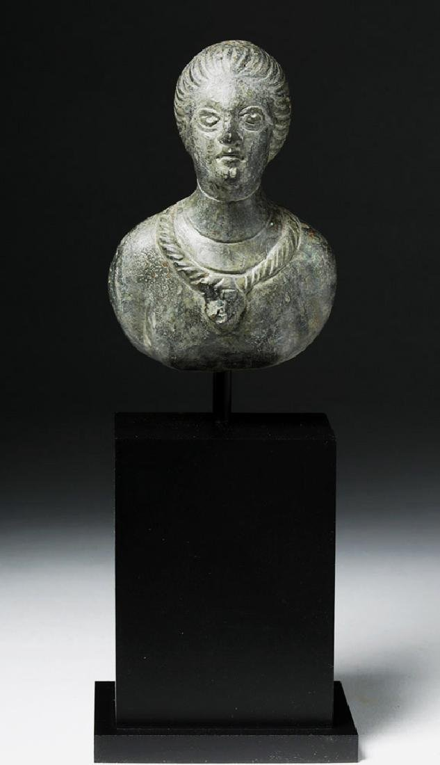 Roman Bronze Protome - Bust of Woman - 5