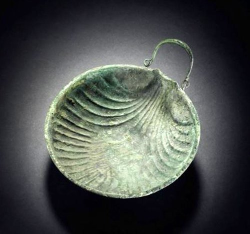 Published Roman Bronze Shell-Shaped Dish, ex-Sotheby's