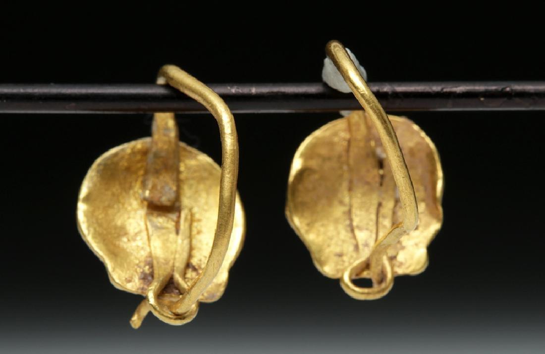 Delicate Roman 18K Gold Seashell Earrings - 2 g - 4