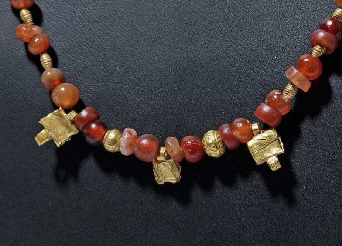 Roman Necklace w/ Carnelian, Garnet and Gold Beads - 6
