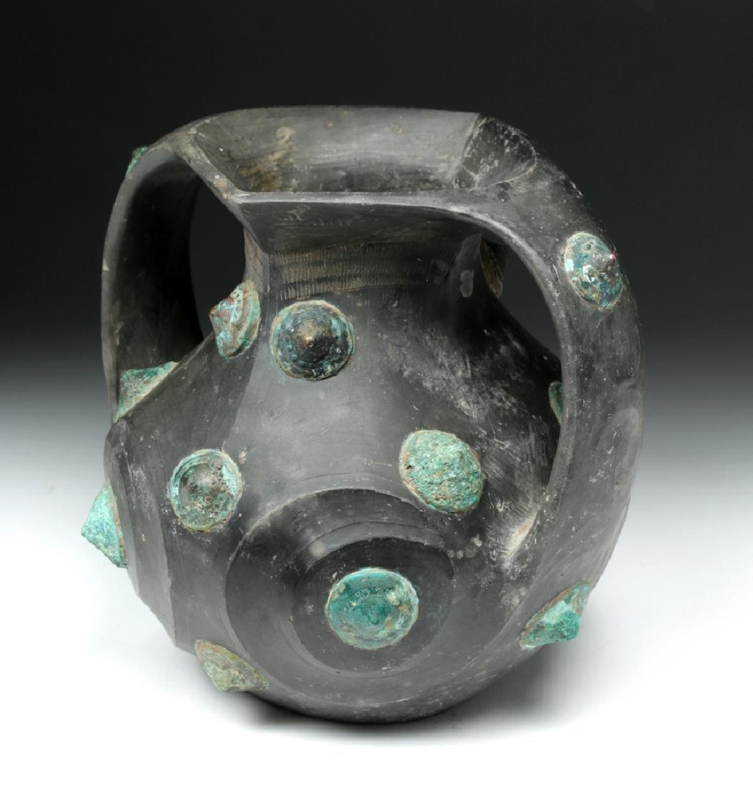 Chinese Han Dynasty Blackware / Bronze Amphora - TL'd - 2