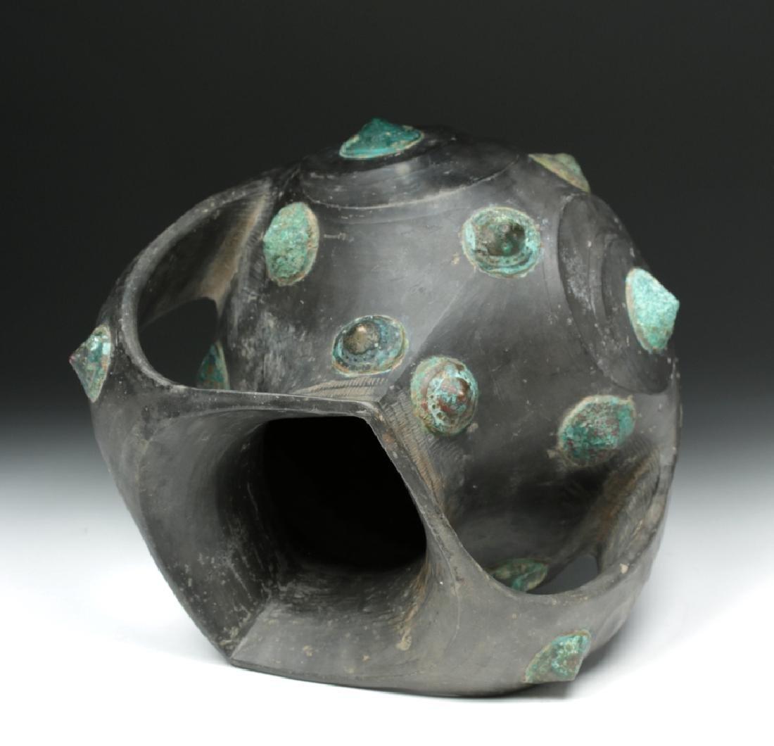 Chinese Han Dynasty Blackware / Bronze Amphora - TL'd - 6