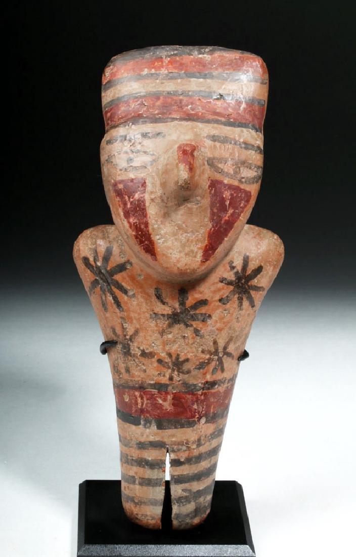 Nazca Pottery Polychrome Standing Figure