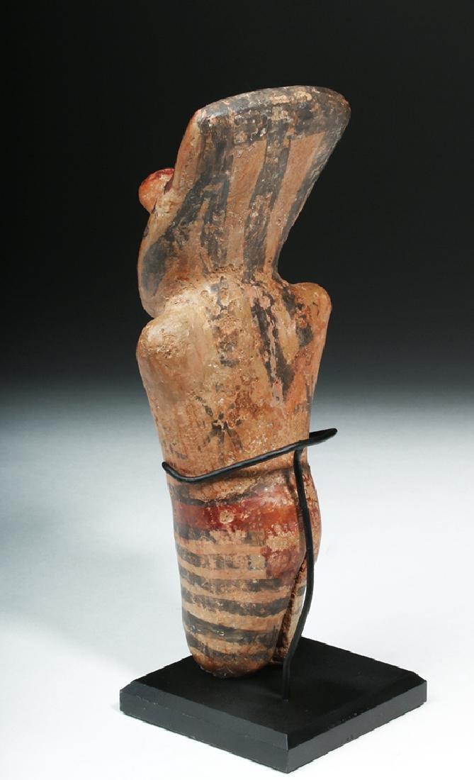 Nazca Pottery Polychrome Standing Figure - 3