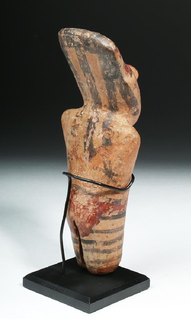 Nazca Pottery Polychrome Standing Figure - 4