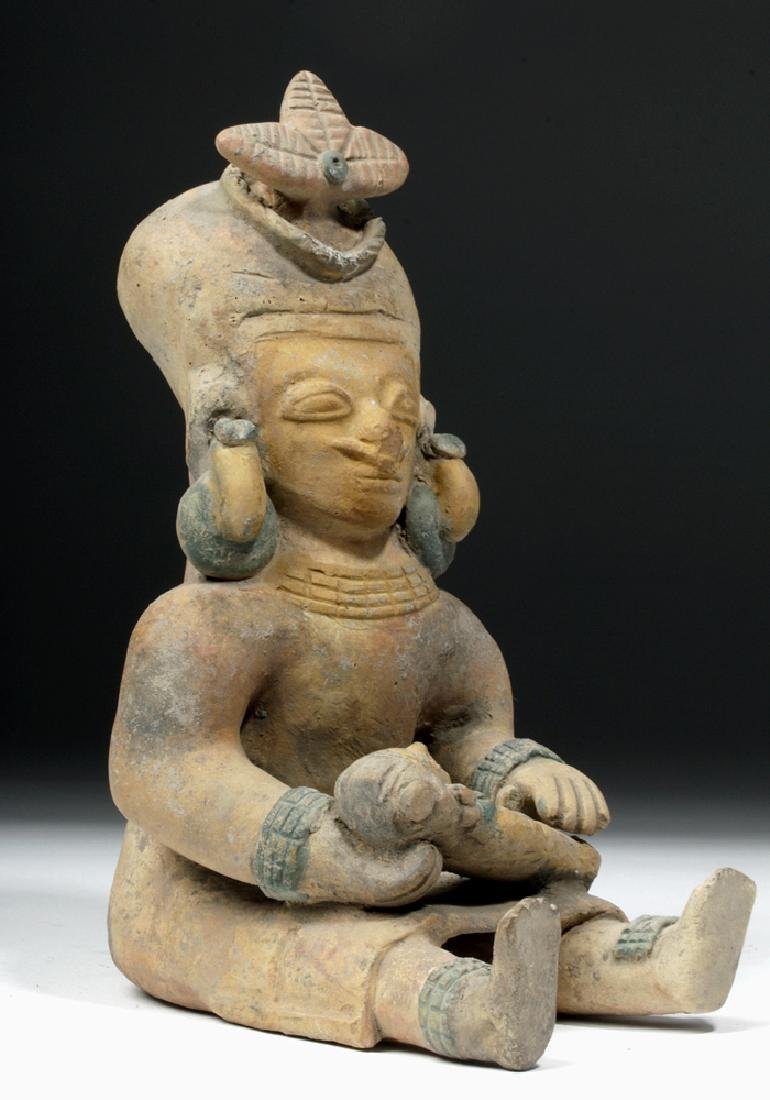 Jamacoaque Polychrome Seated Mother & Child