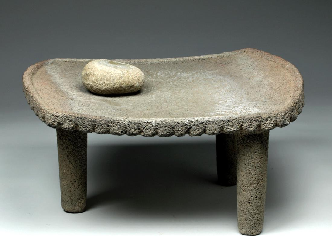 Large Choice Costa Rican Stone Metate & Grinding Stone