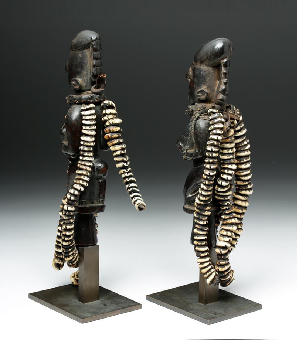 Pair of 20th C. Nigerian Yoruba Esu Staff (Ogo Elegba) - 3